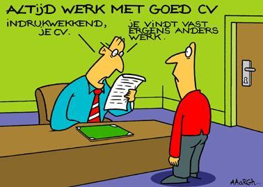 solliciteren met cv c 2923, goed cv solliciteren werkgever crisis werkloos job.